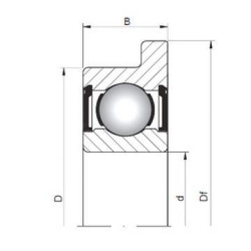 підшипник FL619/1,5 ZZ ISO